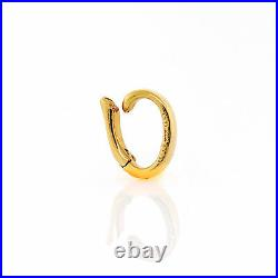 14K Yellow Gold Oval Jump Ring Charm Hook Clasp Holder ITALY Sundries VTG