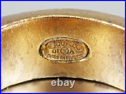 Authentic CHANEL Coco Logo Charm Ring Gold Tone Metal 6.5 01A Vintage