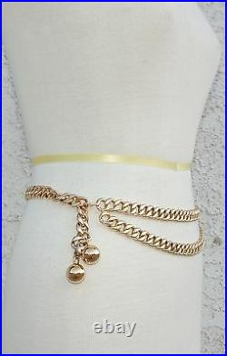 Chanel Gold Chain Belt With Ball Charms Rare Vintage