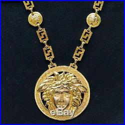 Iconic GIANNI VERSACE gold-tone Medusa medallion chain necklace from fw 1992/93