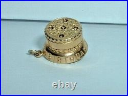 VINTAGE 14k YELLOW GOLD 3D HAPPY BIRTHDAY CAKE CHARM candles move