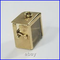 Vintage 14K Gold 3D WORKING SEWING MACHINE IN CASE Charm Love Hearts