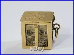 Vintage 14K Gold New York Times Newspaper inside Charm All the news thats fit to