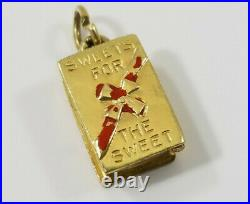 Vintage 14K Gold Sweets for The Sweet Chocolate Box Charm opens