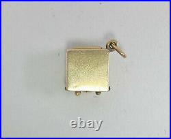 Vintage 14k Gold Articulated Phonograph in Case Charm 2 Grams