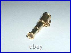 Vintage 14k Yellow Gold 3d Moveable Telescope Stanhope Charm