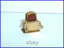 Vintage 14k Yellow Gold Gold Moveable 3d Kitchen Toaster Charm