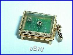 Vintage 14k Yellow Gold Moveable Gaming Craps Dice Table Charm