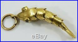 Vintage 18K Gold ARTICULATED WIGGLE FISH Charm Pendant 5.2grams Moves
