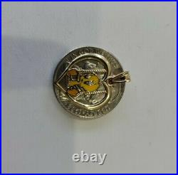Vintage 90s Rare 14k gold Tweety Bird In Cage Michael Anthony charm pendant