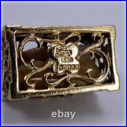 Vintage 9ct Gold Treasure Chest Charm or Pendant