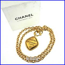 Vintage Chanel Large Charm 31 RUE CAMBON NIB Chain Necklace. NFV5992