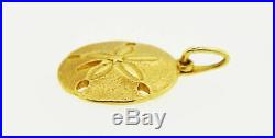 Vintage Tiffany & Co 17mm 14k Yellow Gold Sand Dollar Charm Pendant For Necklace