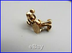 Vtg 14K Gold Mickey Mouse Pendant Charm 3D Figural Estate Disney Licensed With Tag